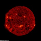Click for time-lapse image of the sun